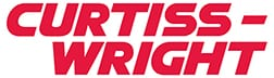 Curtiss-Wright logo in Pantone 186 Coated (red)